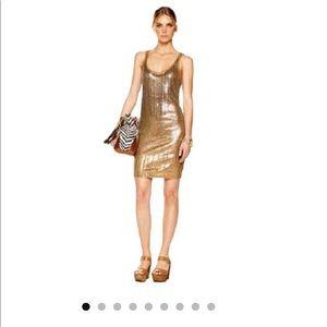 MICHAEL Michael Kors gold tank dress